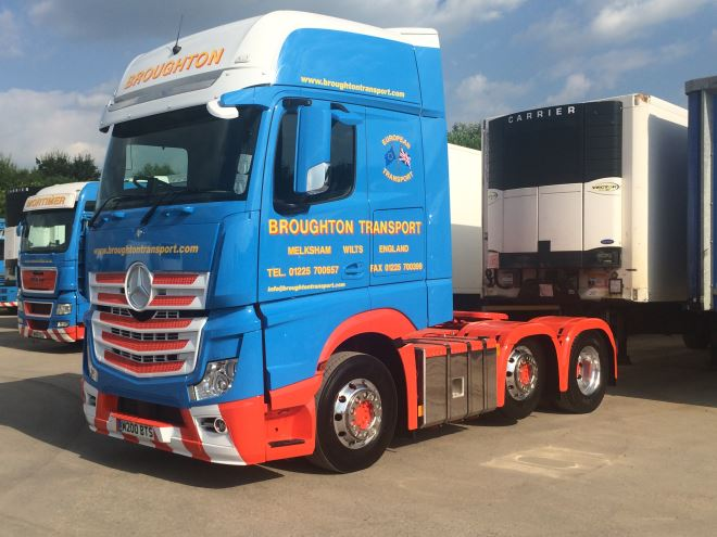 heavy haulage trucks for logistics company, Broughton Transport